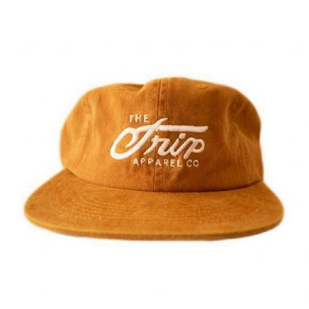 The Trip Script 6 Panel Cap - Mustard
